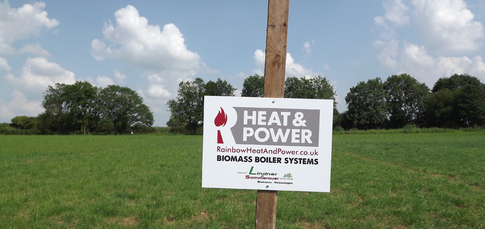 Rainbow Heat and Power sign